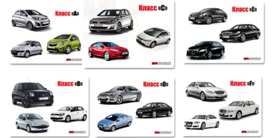 виды классов автомобилей
