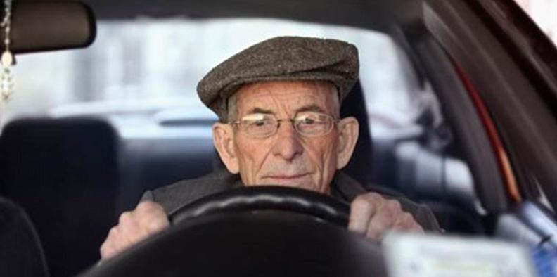 пенсионер на машине