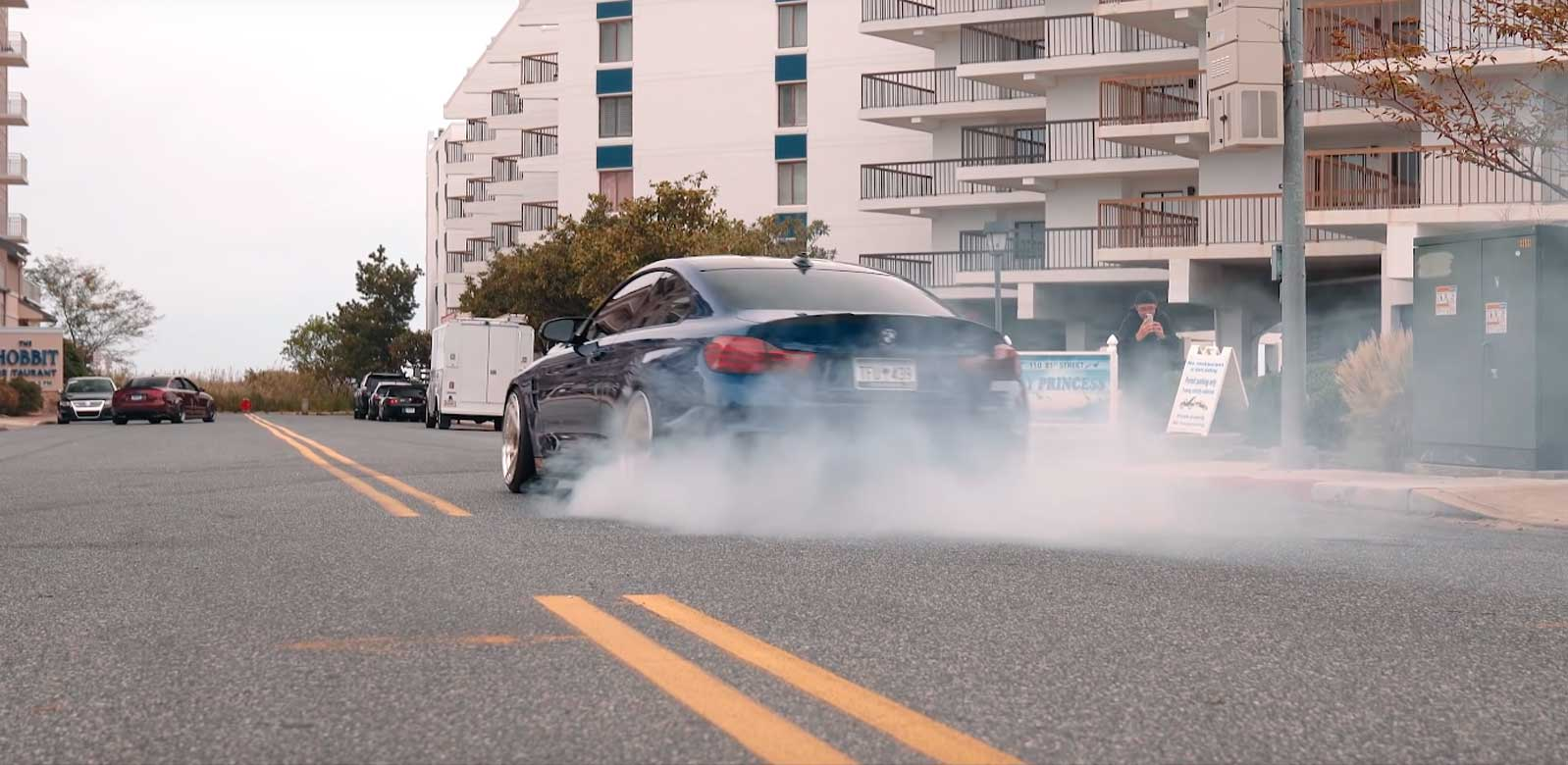 Бёрнаут на BMW